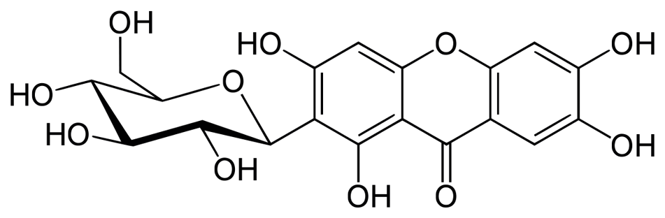 Image result for mangiferin structure